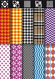 seamless fashion patterns, vector set