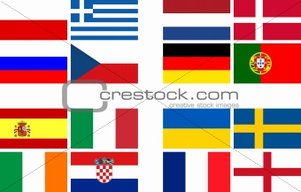 National team flags European football championship 2012