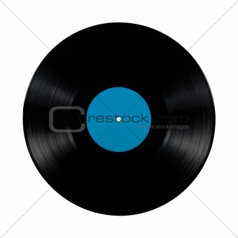 Black vinyl record lp album disc, isolated long play disk