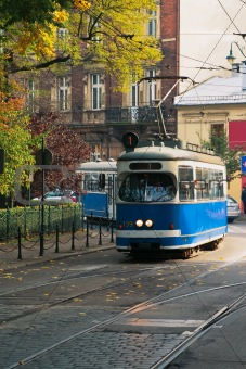 240 - The tram in the street