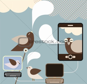 Social Media -concept vector illustration