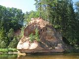 Zvārta rock near Amata river
