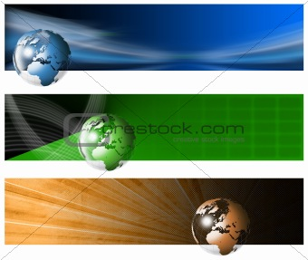 Three Technological Banner