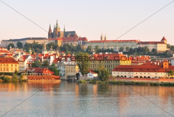 Prague Castle at sunrise