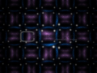 Blue and purple lucky dice weave fractal