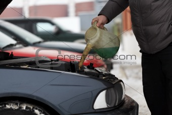 Adding antifreeze