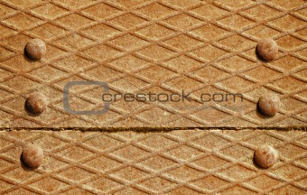 Background - iron deck with rivets