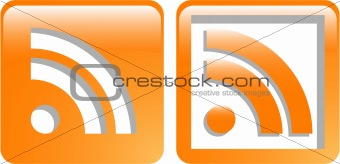 the vector rss web symbol icon set