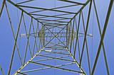 Italian electricity pylon medium voltage