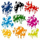 Set of Color Blots