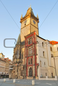 Prague. Old Town Hall at dawn