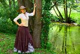 Cowgirl near the river