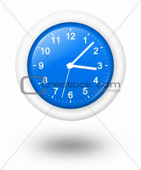 Analog Blue Clock Illustration