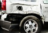 Car with body damage