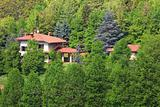 House among trees. Piedmont, Northern Italy.