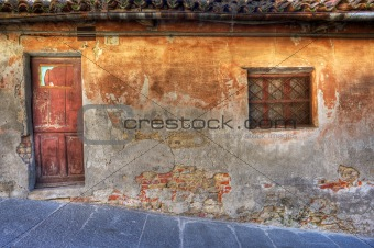 Old house. La Morra, Northern Italy.