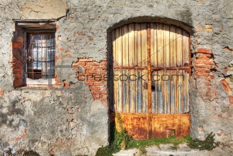 Ancient house. La Morra, Northern Italy.