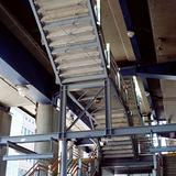 Girders supporting stairway