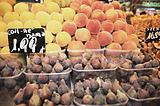 Fruit stall at La Boqueria market Barcelona