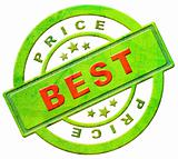 Best price label or stamp