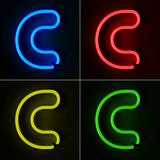 Neon Sign Letter C