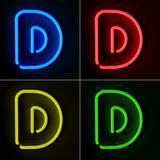 Neon Sign Letter D