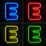 Neon Sign Letter E