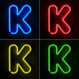 Neon Sign Letter K