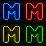 Neon Sign Letter M