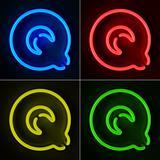Neon Sign Letter Q