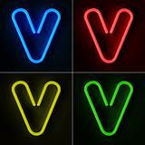 Neon Sign Letter V