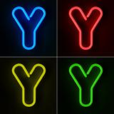 Neon Sign Letter Y