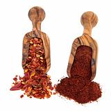 Chili Flakes and Powder