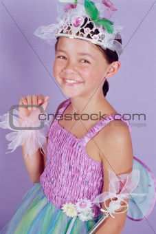 Girl dressed as fairy princess