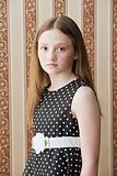 Girl in a polka dot dress