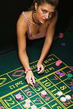 Woman at roulette table
