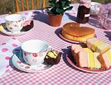 Table of tea and cakes