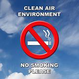 No Smoking sign with sky background