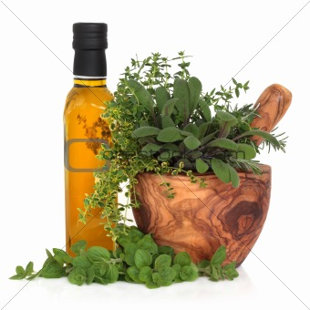 Olive Oil and Herbs