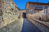 Ancient castle. Serralunga D'Alba, Italy.