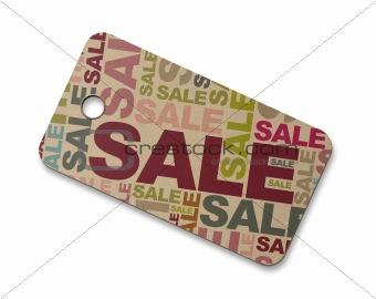 Cardboard sale label