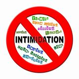 Stop intimidation sign