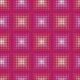 Seamless abstract pattern with stylized circle. Vector