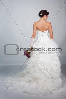 Bride in studio