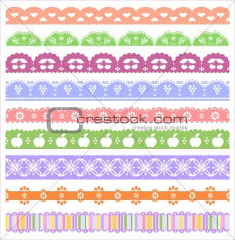 Vector Scrapbook Borders Set