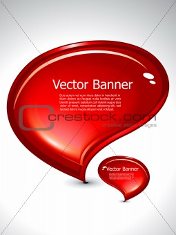 abstract chat banner