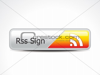 abstract glossy  rss button
