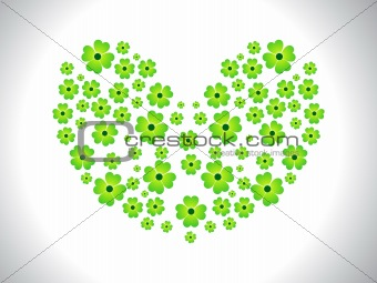 abstract heart shape clover