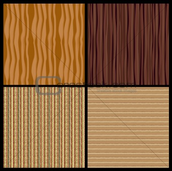 4 wood texture. Vector