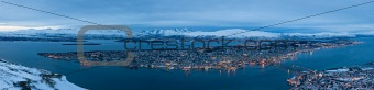 Panoramic view of Tromso in Norway